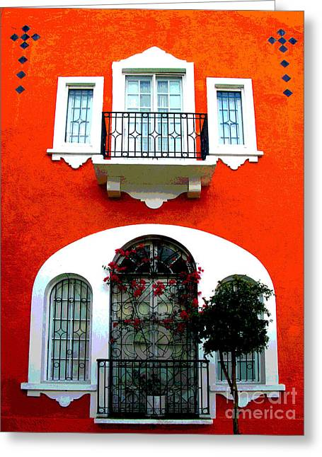 Portal Greeting Cards - White Windows by Darian Day Greeting Card by Olden Mexico