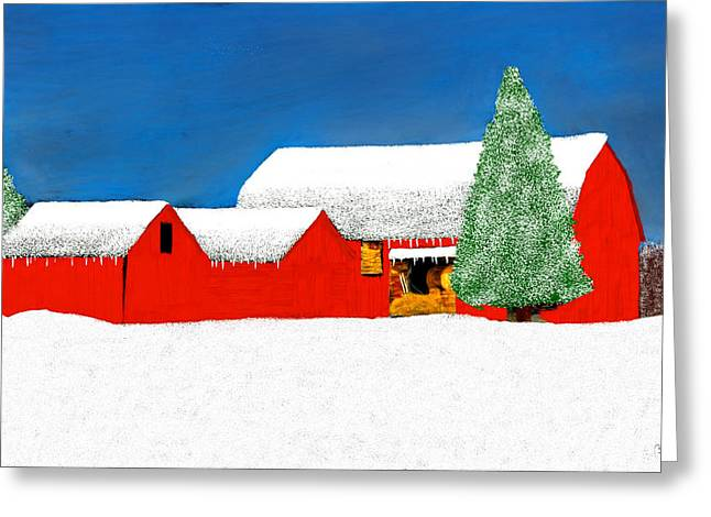 Outbuildings Greeting Cards - White Winter Wonderland Greeting Card by Bruce Nutting