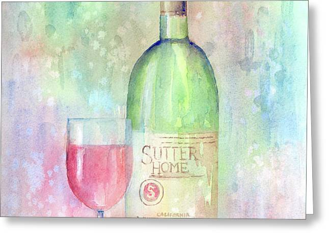 White Zinfandel Greeting Card by Arline Wagner