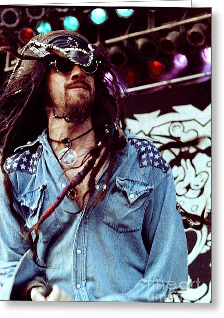 Live Art Greeting Cards - White Zombie 93-Rob-0342 Greeting Card by Timothy Bischoff