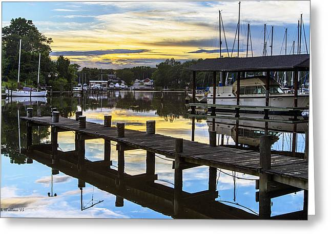 Masts Greeting Cards - Whites Cove Sunset Greeting Card by Brian Wallace