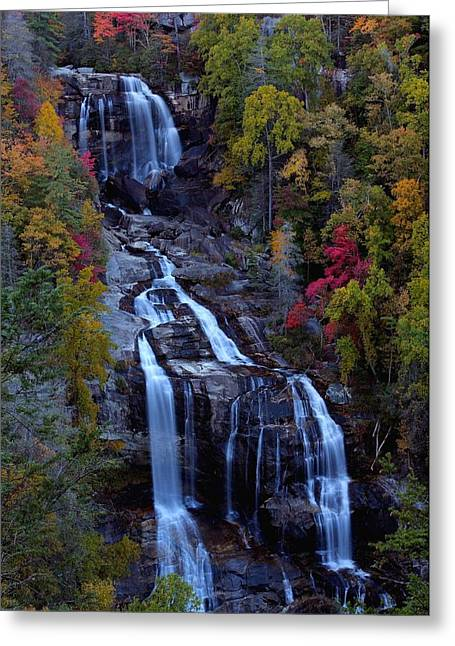 Whitewater Greeting Cards - Whitewater falls in autumn Greeting Card by Jetson Nguyen
