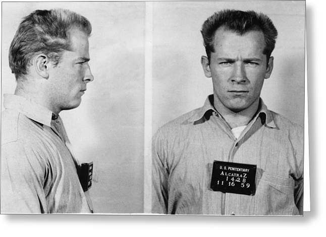 Whitey Bulger Mug Shot Greeting Card by Edward Fielding