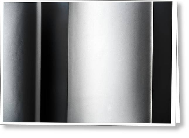 Abstract Shapes Greeting Cards - Whitney Columns Left Greeting Card by Steven Maxx