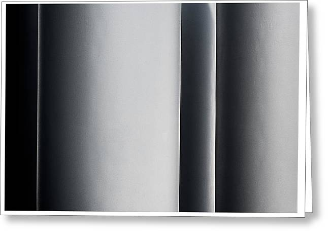 Abstract Shapes Greeting Cards - Whitney Columns Right Greeting Card by Steven Maxx