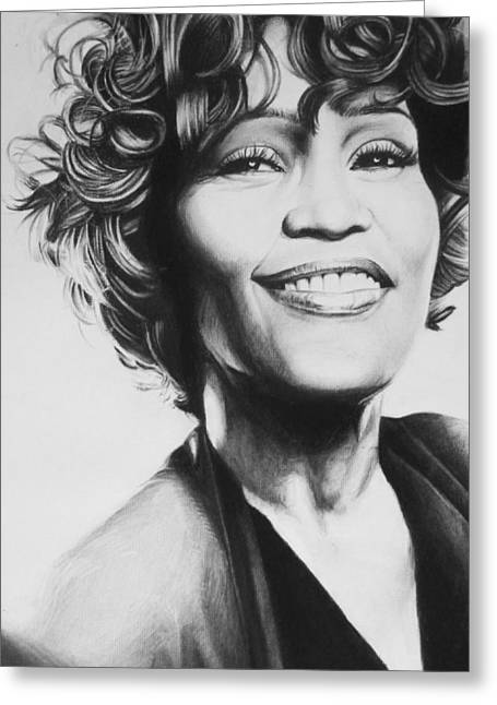 Whitney Houston Greeting Cards - Whitney Houston Greeting Card by Steve Hunter