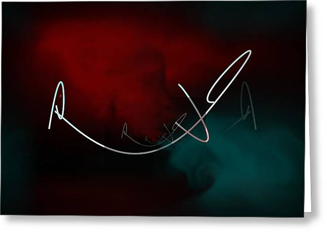 Abstract Expressionist Digital Greeting Cards - Who Am I  Greeting Card by John Krakora