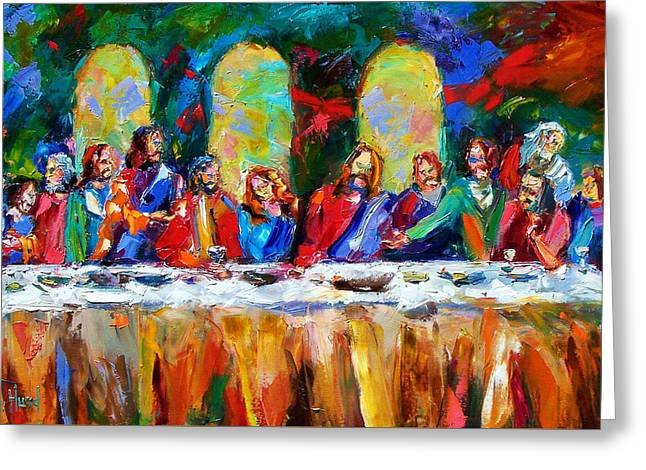 Lord Paintings Greeting Cards - Who Among Us Greeting Card by Debra Hurd