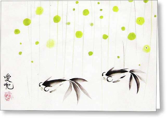 Inkwash Greeting Cards - Who Cares About The Storm Above Greeting Card by Oiyee  At Oystudio
