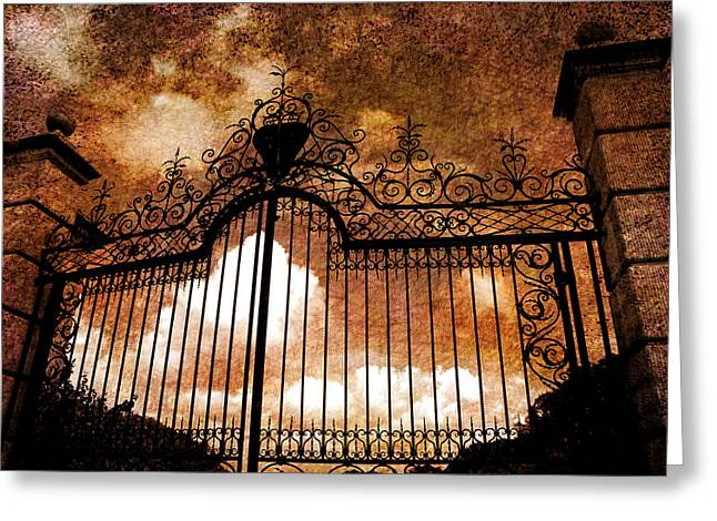 Historic Florida Greeting Cards - Who is knocking on heavens door Greeting Card by Susanne Van Hulst