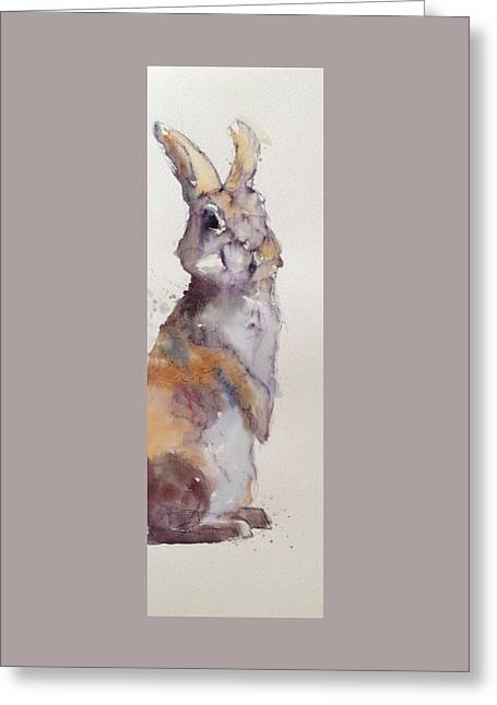 Pen And Ink Drawing Greeting Cards - Who me? Greeting Card by Lynne Shaw