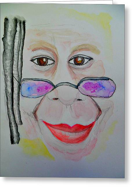 Famous African Americans Drawings Greeting Cards - Whoopi Goldberg Greeting Card by Terry Florczak