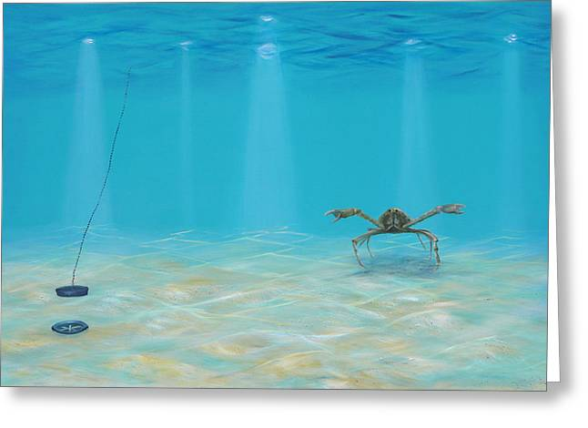 Drain Paintings Greeting Cards - Whos Letting The Water Out Greeting Card by LAF Art