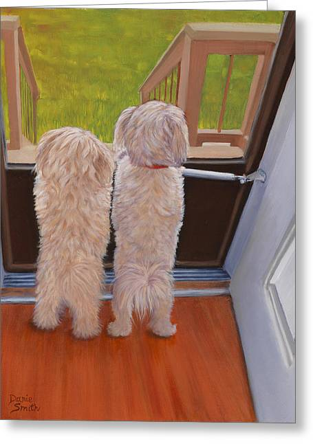 Danielle Smith Greeting Cards - Whos There Greeting Card by Danielle Smith