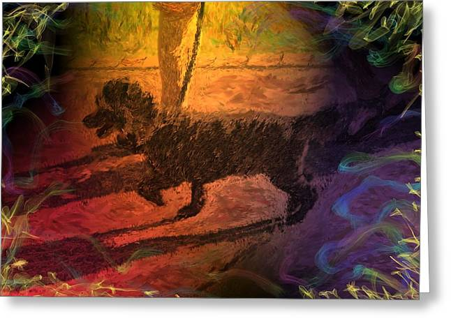 Dogs Digital Greeting Cards - Whos Yer Poodle? Greeting Card by Mark Greulach