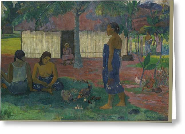 Why Are You Angry Greeting Card by Paul Gauguin