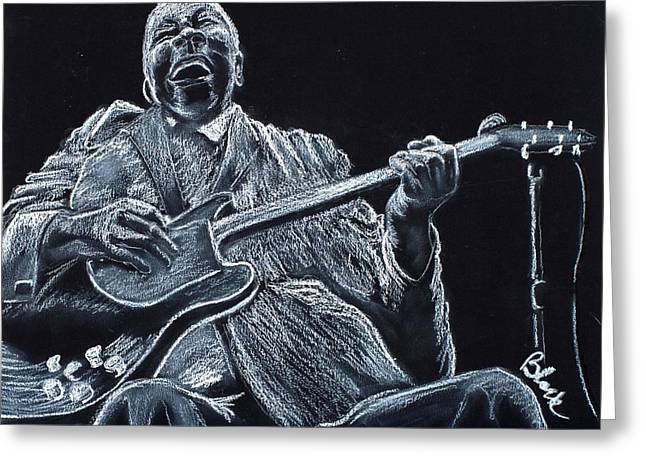 City Art Greeting Cards - Why I Sing The Blues Greeting Card by Charlie Black