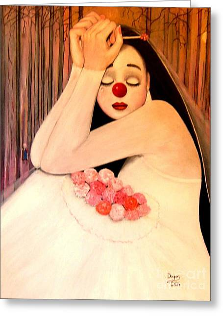 Why Is The Bride Crying Greeting Card by Patricia Velasquez de Mera