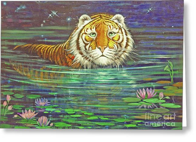 The Tiger Greeting Cards - Why Greeting Card by Silvia  Duran