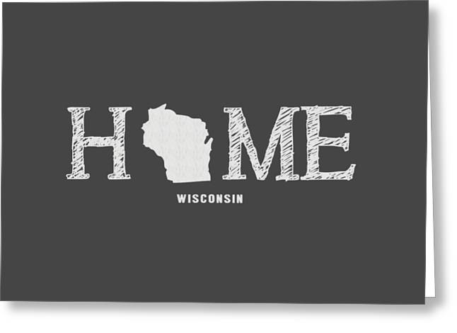 University Of Wisconsin Greeting Cards - WI Home Greeting Card by Nancy Ingersoll