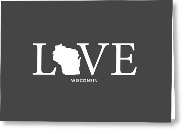 University Of Wisconsin Greeting Cards - WI Love Greeting Card by Nancy Ingersoll