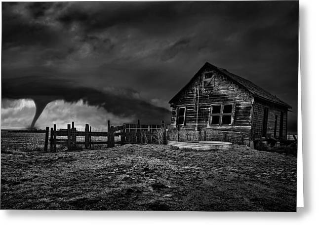 Debris Greeting Cards - Wicked BW Greeting Card by Thomas Zimmerman