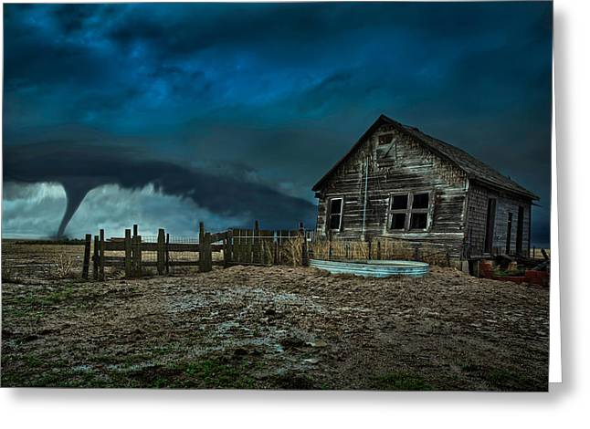 Storm Chasing Greeting Cards - Wicked Greeting Card by Thomas Zimmerman