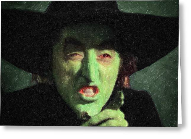 Movie Monsters Greeting Cards - Wicked Witch of the East Greeting Card by Taylan Soyturk