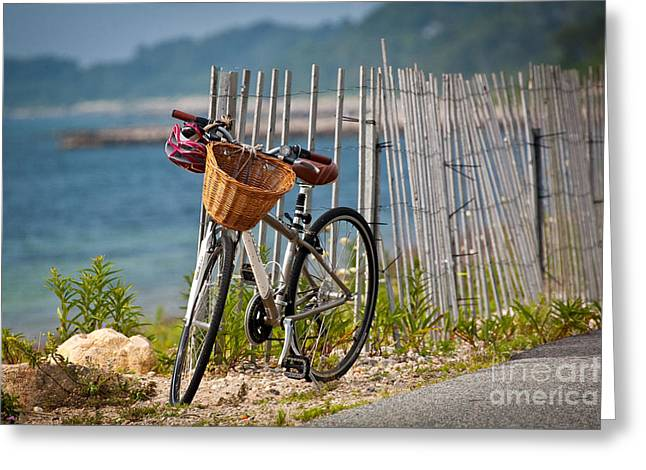 Falmouth Massachusetts Greeting Cards - Wicker Basket Greeting Card by Susan Cole Kelly
