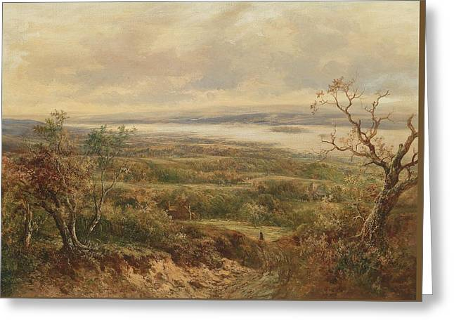Wide Landscape Greeting Card by Joseph Thors