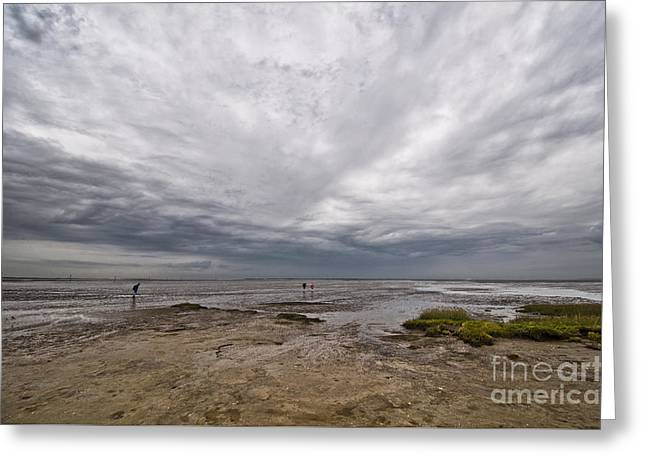 Himmel Greeting Cards - Wadden Sea Shore Greeting Card by Meike Hofstetter