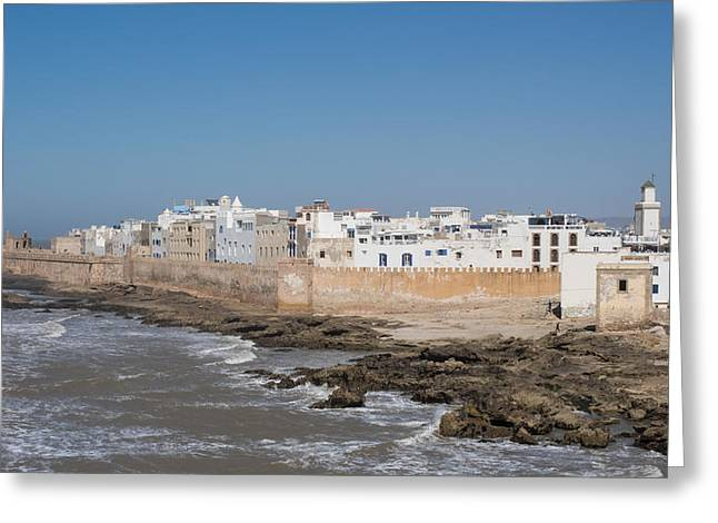 Essaouira Greeting Cards - Wide View Of The Old Part Of Essaouira Greeting Card by Panoramic Images