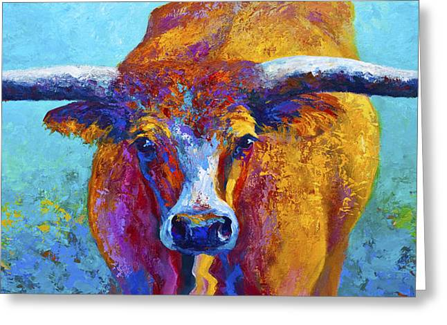 Widespread - Texas Longhorn Greeting Card by Marion Rose
