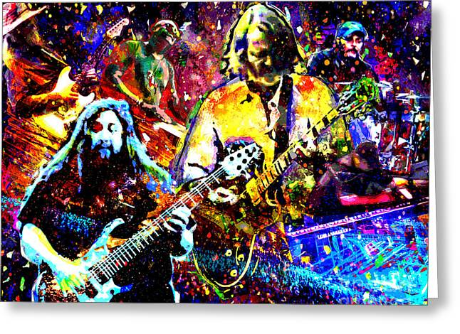 Dave Mixed Media Greeting Cards - Widespread Panic Art Greeting Card by Ryan RockChromatic