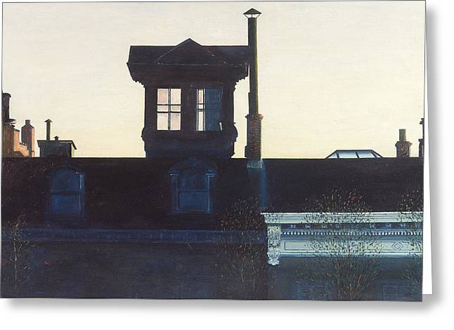 High Up Greeting Cards - Widows Walk Brooklyn Heights NYC Greeting Card by Anthony Butera