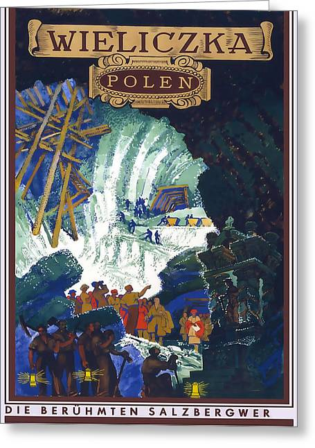 Poland Art Greeting Cards - Wieliczka Polen Greeting Card by David Wagner