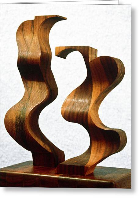 Pattern Sculptures Greeting Cards - Wiggly Women Greeting Card by Lonnie Tapia