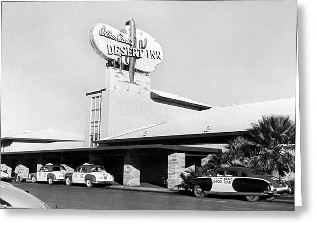 Wilbur Clark's Desert Inn Greeting Card by Underwood Archives