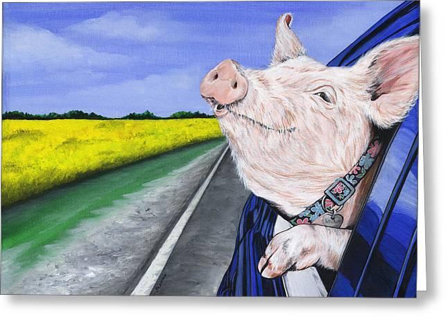 Wilbur Greeting Card by Twyla Francois