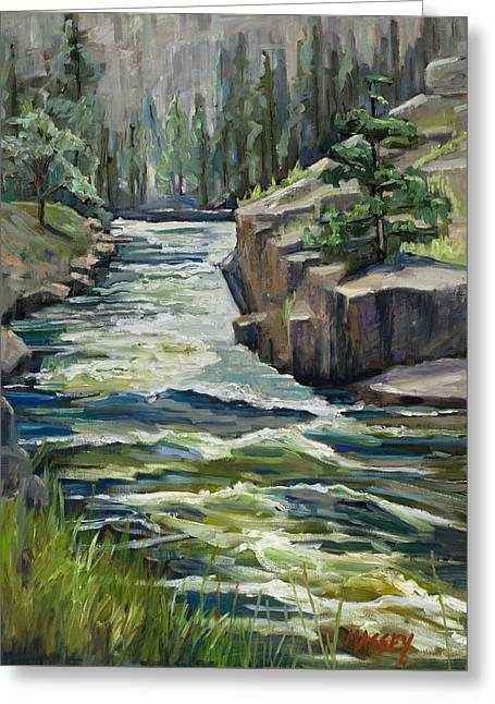 Cache Greeting Cards - Wild and Free, plein air Greeting Card by Marie Massey