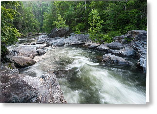 Recently Sold -  - Commercial Photography Greeting Cards - Wild and Scenic Chattooga River Blue Ridge Mountains Greeting Card by Mark VanDyke