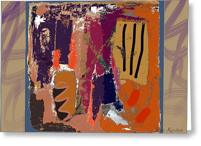 Abstract Handbag Drawing Greeting Cards - Wild and Wicked 1 Greeting Card by Janis Kirstein