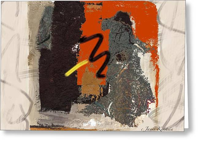 Abstract Handbag Drawing Greeting Cards - Wild and Wicked 3 Greeting Card by Janis Kirstein