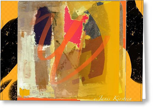 Abstract Handbag Drawing Greeting Cards - Wild and Wicked 7 Greeting Card by Janis Kirstein