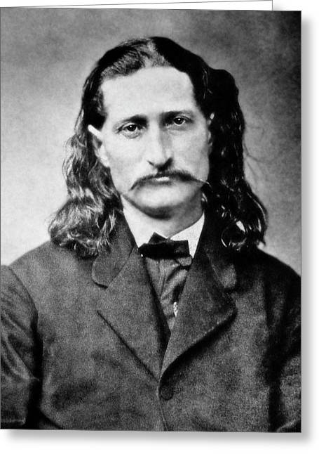 Old Greeting Cards - Wild Bill Hickok - American Gunfighter Legend Greeting Card by Daniel Hagerman