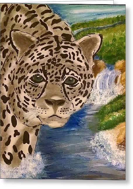 Jaguars Greeting Cards - Wild Cat Greeting Card by Megan McLoughlin