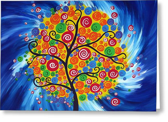 With Love Greeting Cards - Wild Dream Tree Greeting Card by Cathy Jacobs
