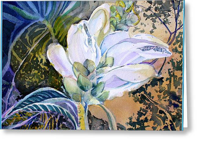 Wild Life Drawings Greeting Cards - Wild Flower Greeting Card by Mindy Newman
