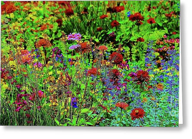 Wild Flowers Greeting Card by Paulette Thomas