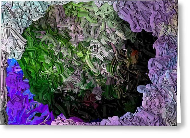 Digital Paint Greeting Cards - Wild Flowers Vast and Glorious Greeting Card by Nancy TeWinkel Lauren